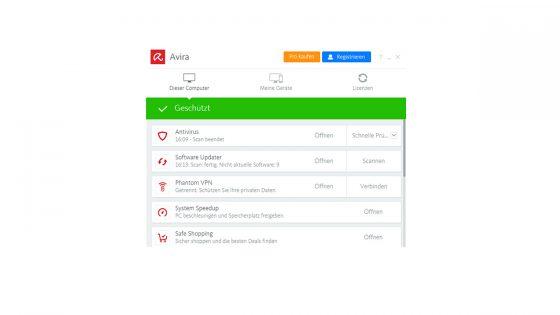 Avira Virenschutz für Windows 10