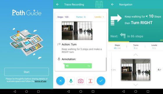 Screenshots Path Guide App