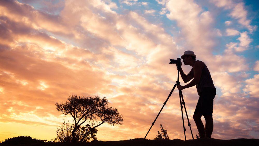 Fotografieren im Sonnenuntergang