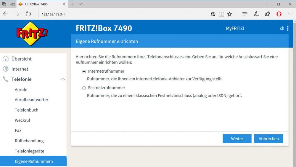 Fritz!Box als Telefonanlage: Assistent für Einrichtung