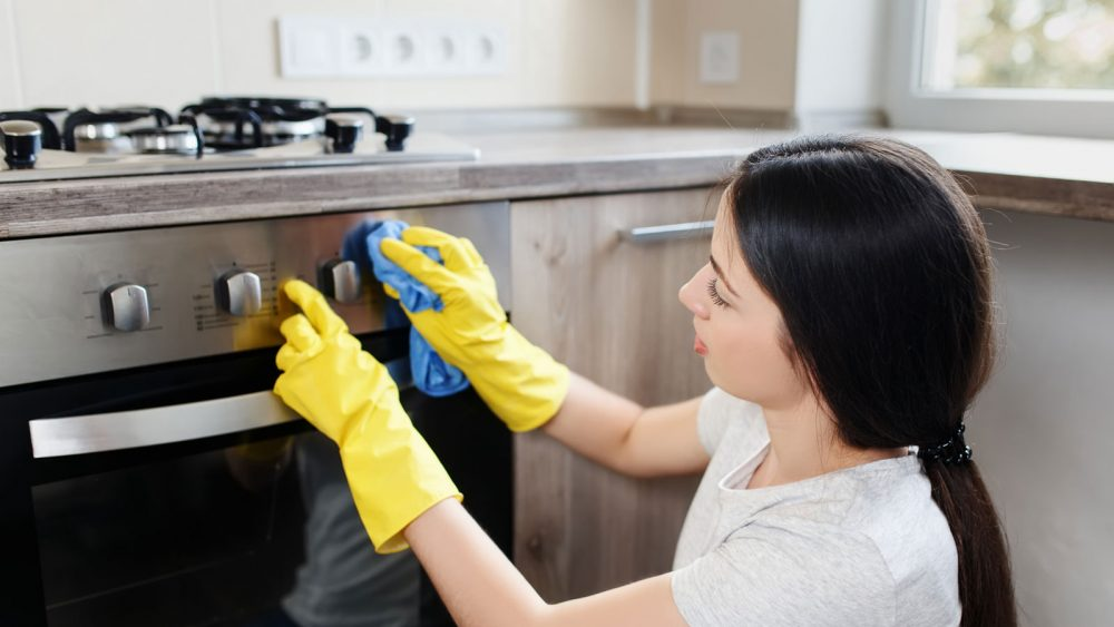 Gummidichtung am Ofen reinigen