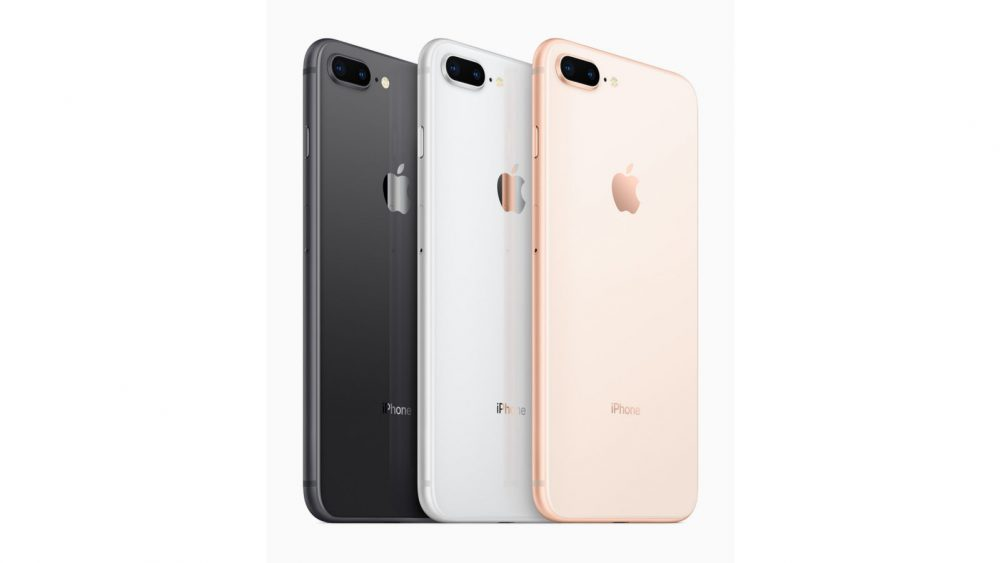 Das iPhone 8 in den Farben Space Grau, Silber und Gold