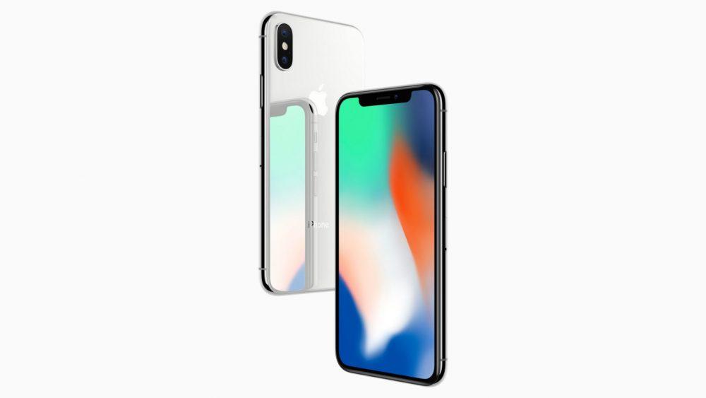 iPhone X in Silber von vorne und hinten