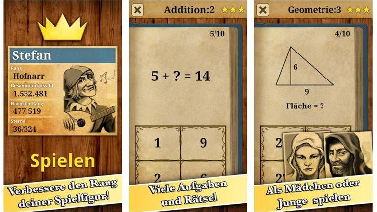 App Mathematik-Spiel
