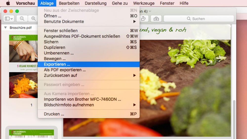 PDF komprimieren auf dem Mac