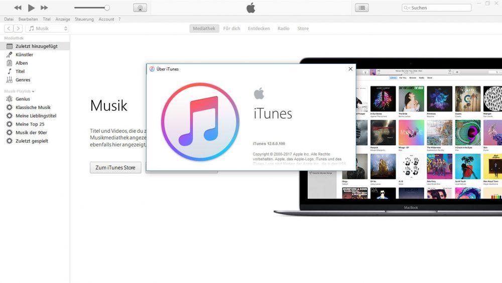 Den aktuellen Stand der iTunes-Software erfahren.