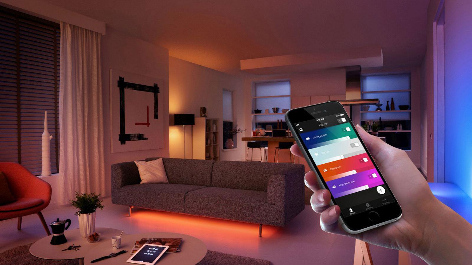 Lichtsteuerung per App mit Philips Hue