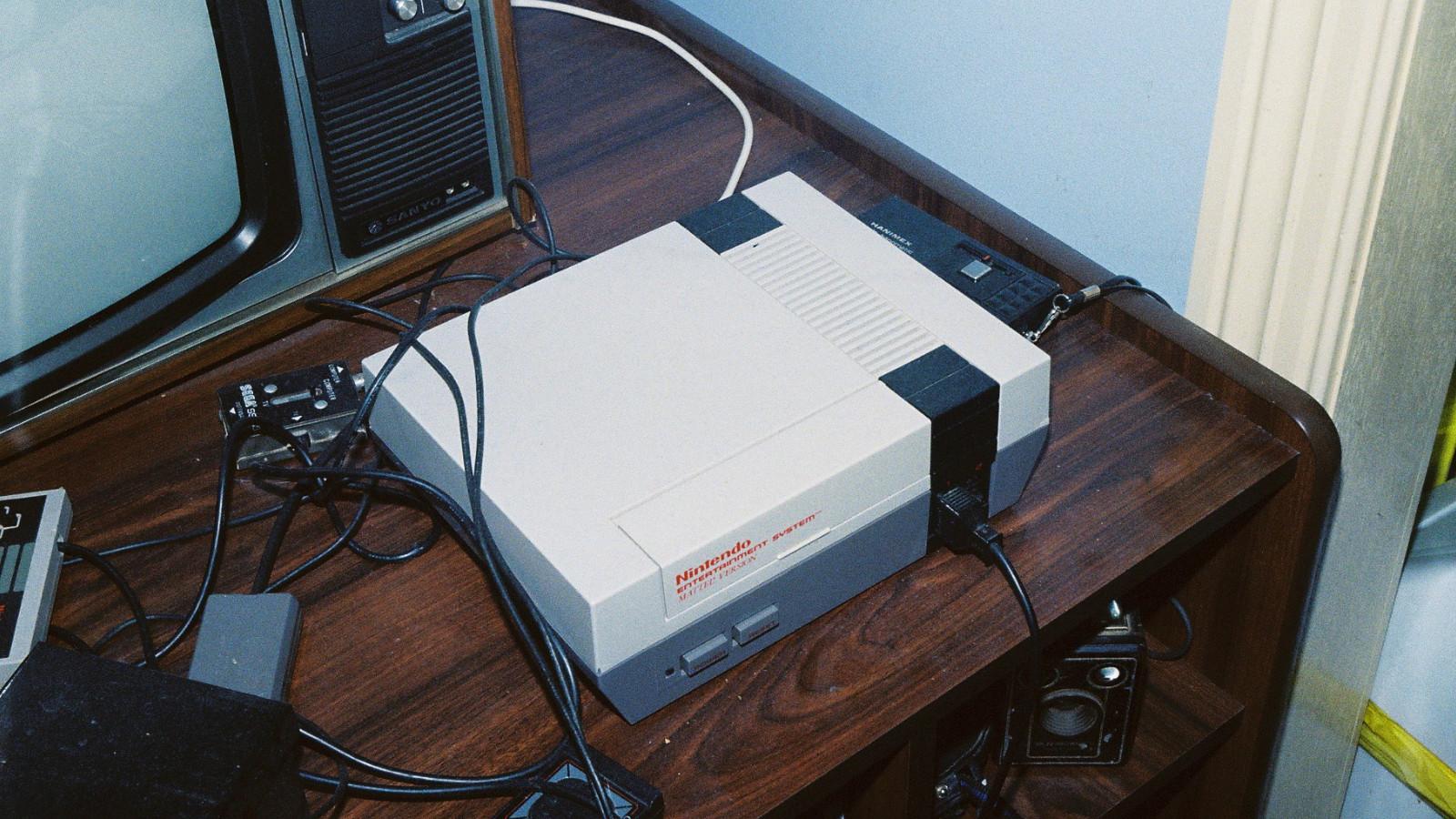 Nintendo Entertainment System am Fernseher