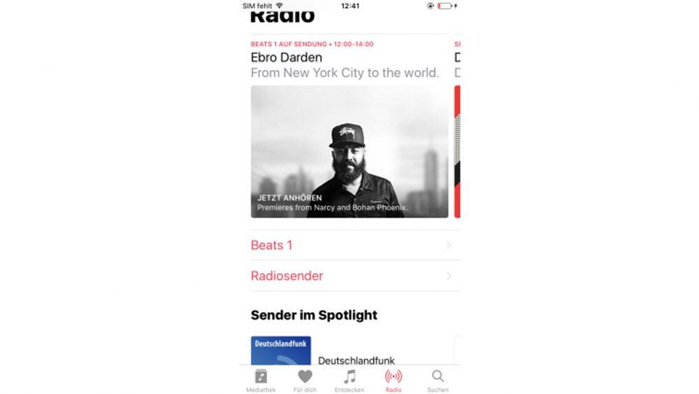 Apple Music umfasst auch diverse Radio-Funktionen