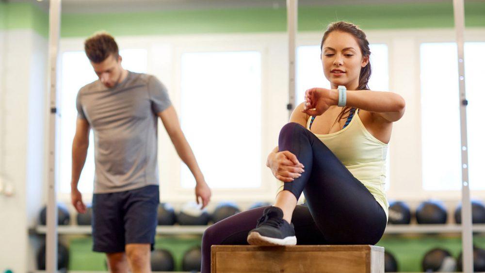 Fitness Tracker beim Workout