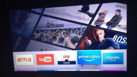 Amazon Prime Video App für Apple TV