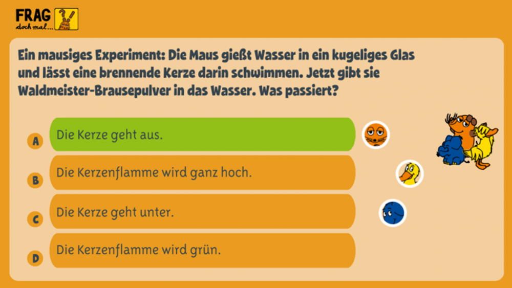 """""""Frag doch mal … die Maus"""" ist eine Quiz- und Spiel-App rund um verschiedene Wissensgebiete"""