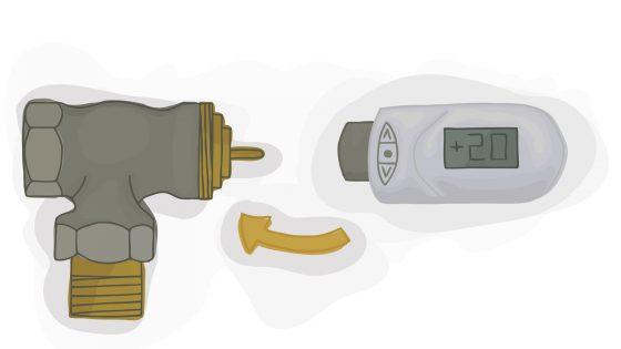 Smart Home Heizung anbringen