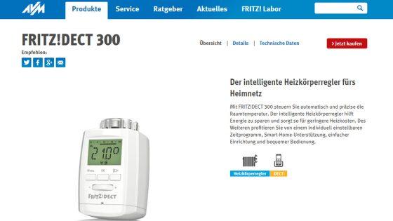 Smart Home Heizung Fritz