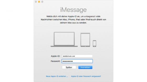 imessage auf mac mit handynummer