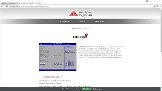 Virus auf dem PC AMIBIOS