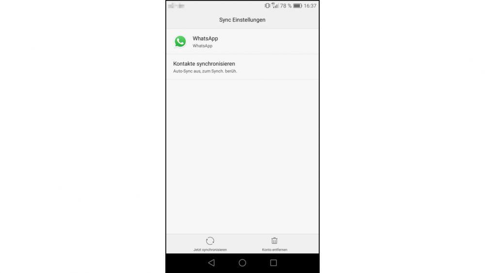 WhatsApp Kontakte wiederherstellen