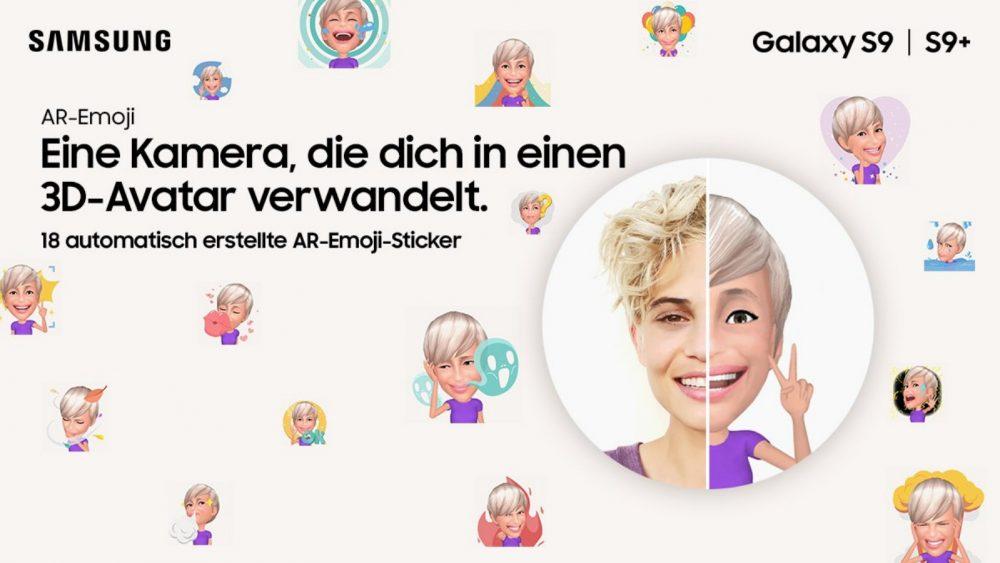 Anzeige Galaxy S9 AR-Emojis