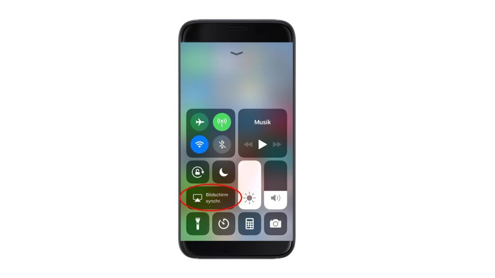 iPhone Control Center AirPlay Button