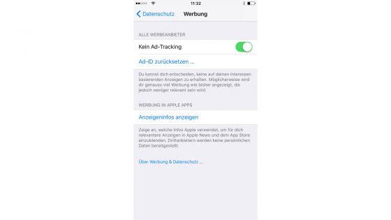 iPhone sicher konfigurieren Werbung