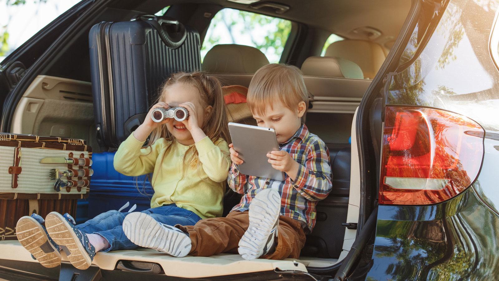 Ablenkung für Kinder bei langen Autofahren