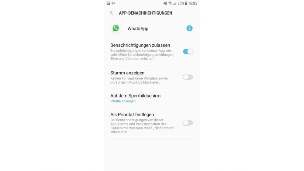 WhatsApp-Nachrichten stummschalten