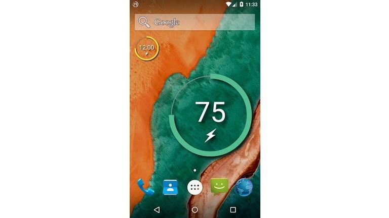 Android-Widget Battery Reborn für den Akkuzustand
