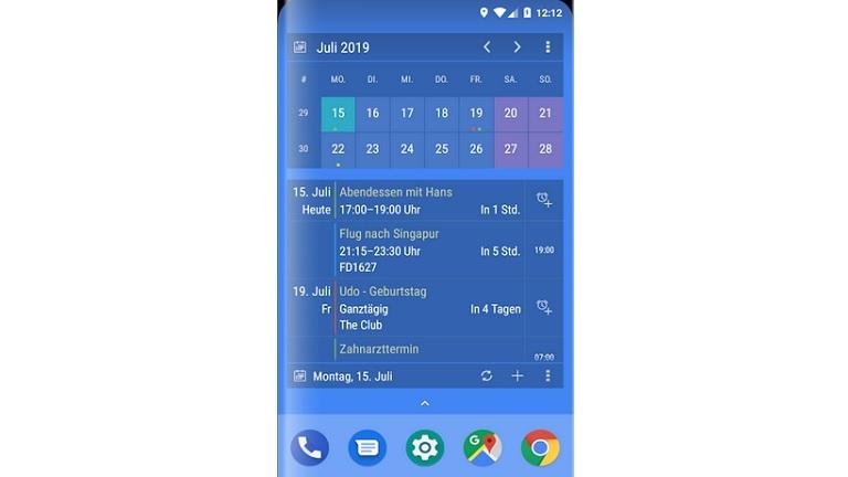 Android-Widgets mit Kalenderfunktionen