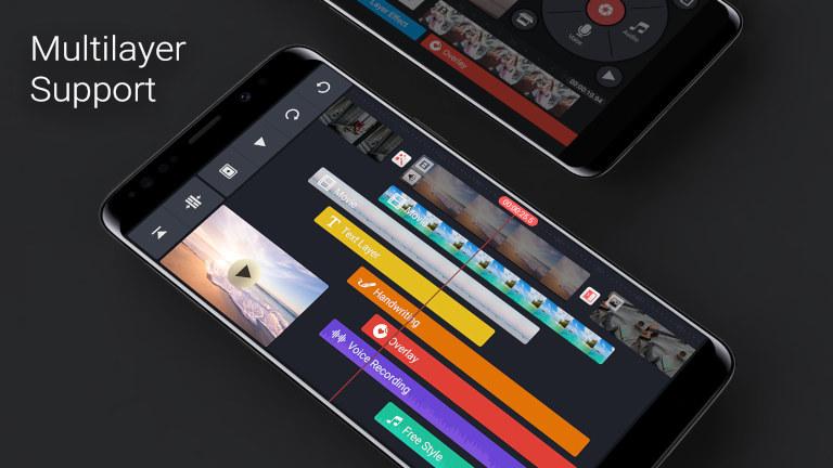 KineMaster-App zum Schneiden von Videos in mehreren Ebenen
