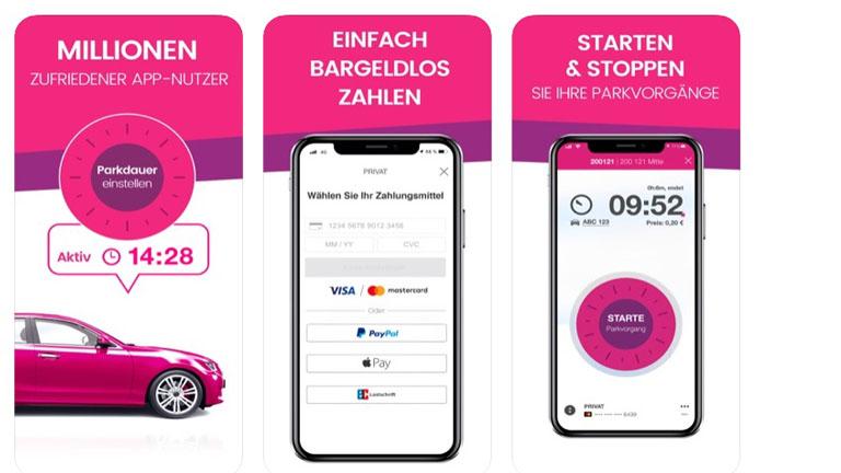 Parkplatz Finder App Easypark