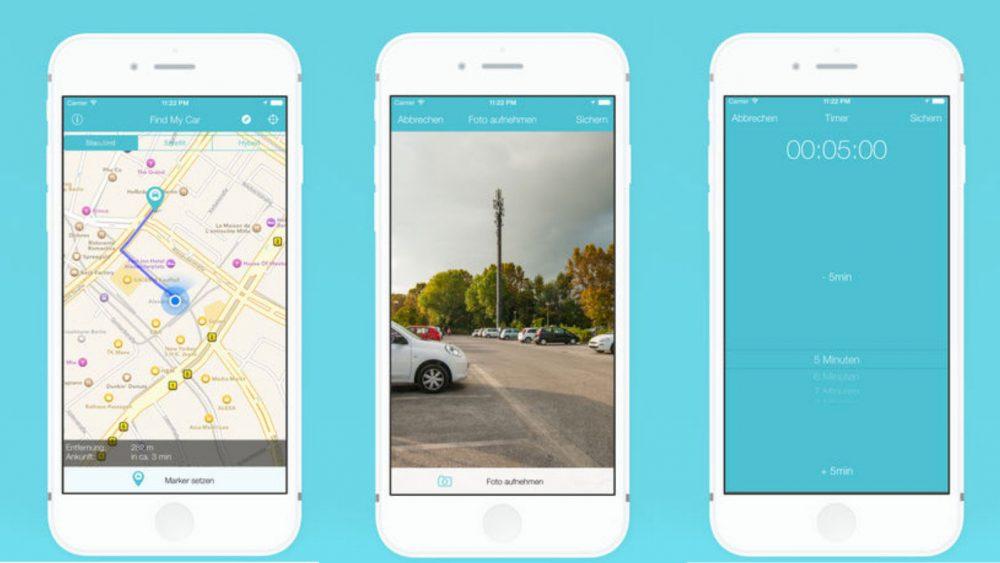 Parkplatz-App Find My Car