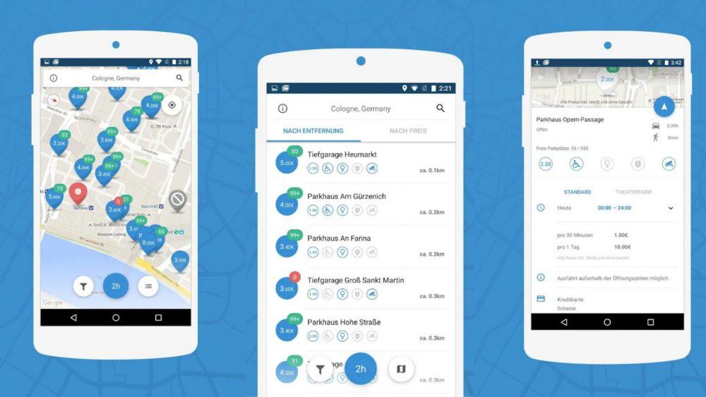 Parkplatz Finder App Parkpocket