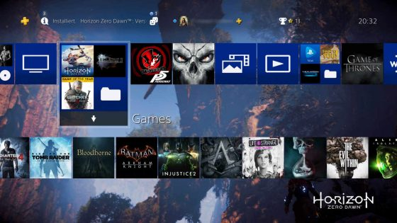 PS4 Dashboard