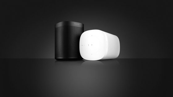 Sonos Lautsprecher schwarz und weiß