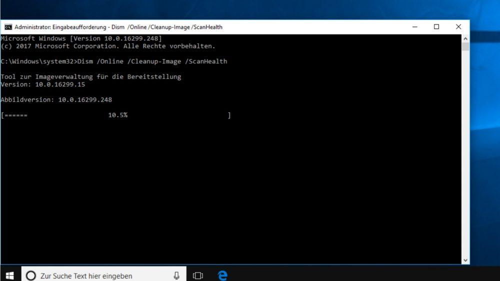 Windows 10 scannt nach Aufforderung selbstständig nach Fehlern in Systemdateien.
