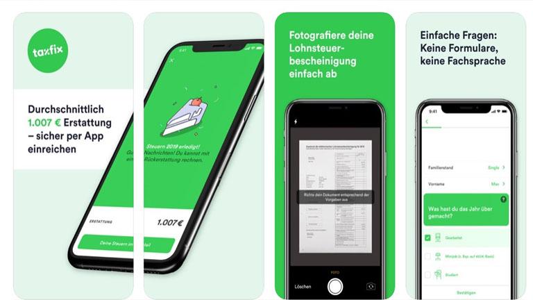 Steuererklärung Apps