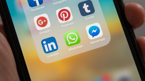 iPhone mit WhatsApp-Logo