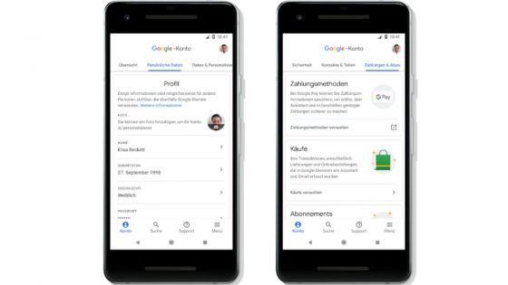 Google Konto Update