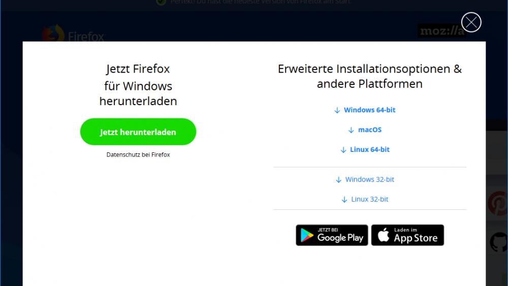 Download der kompletten Firefox-Version