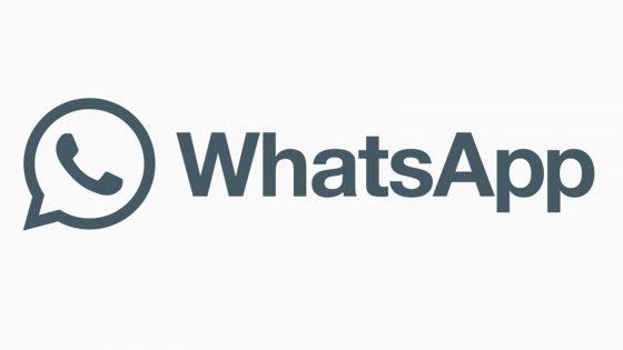 WhatsApp Logo schwarz-weiß