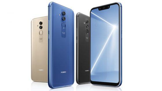 Huawei Mate 20 lite in drei Farben