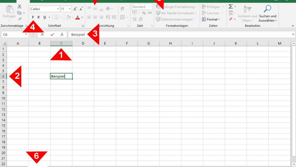 Excel-Tabelle Übersicht Elemente