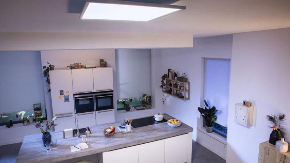 Philips Hue Aurelle als Deckenleuchte in Küche