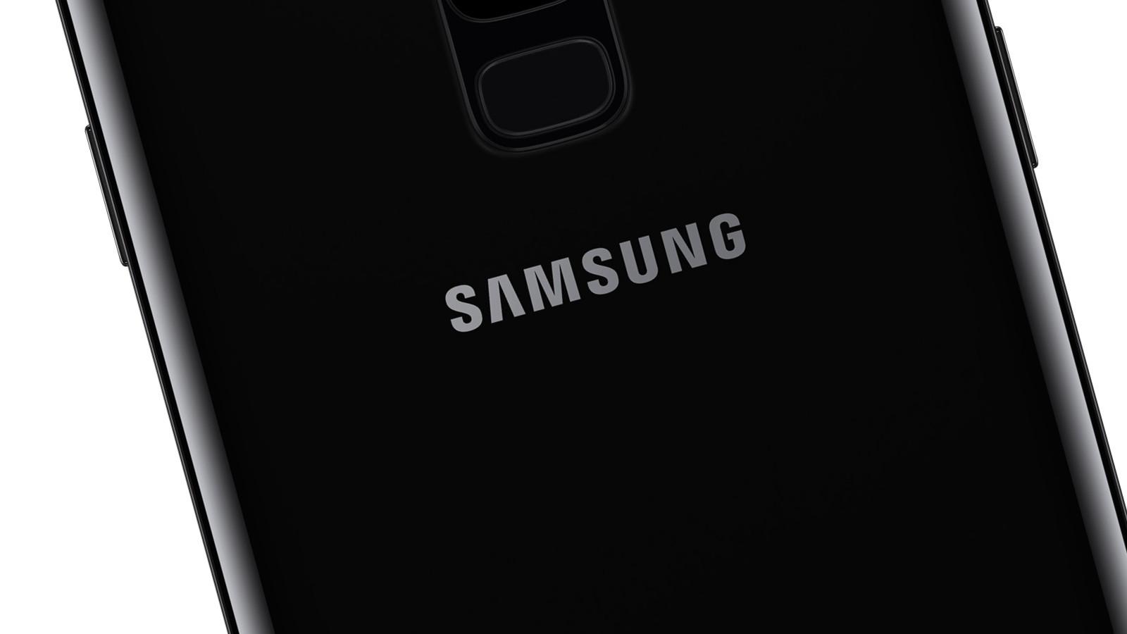 Samsung-Logo auf Smartphone