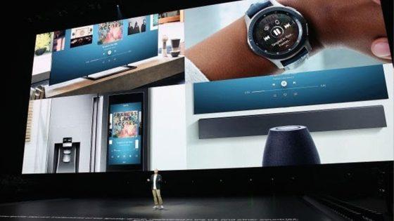 Bühne und Hintergrundfotos beim Event zum Galaxy Note 9