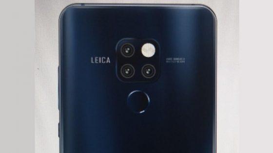 Huawei Mate 20 Pro Leak Rückseite mit drei Kameralinsen