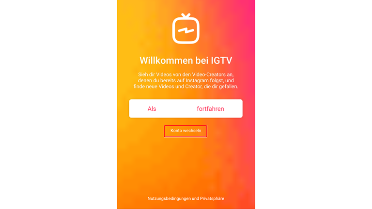 IGTV anmelden