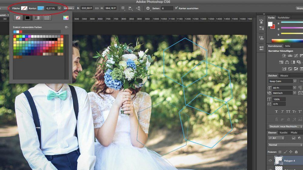 Photoshop Form Kontur bearbeiten