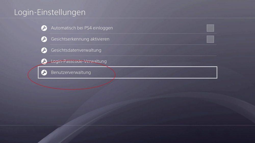 PS4 Benutzer löschen: Kann nur der Admin der Konsole