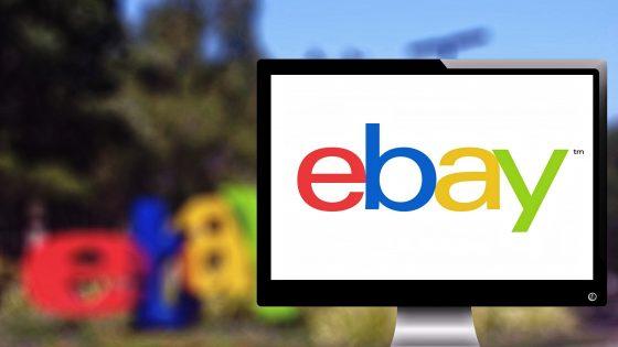 eBay-Logo auf PC-Bildschirm